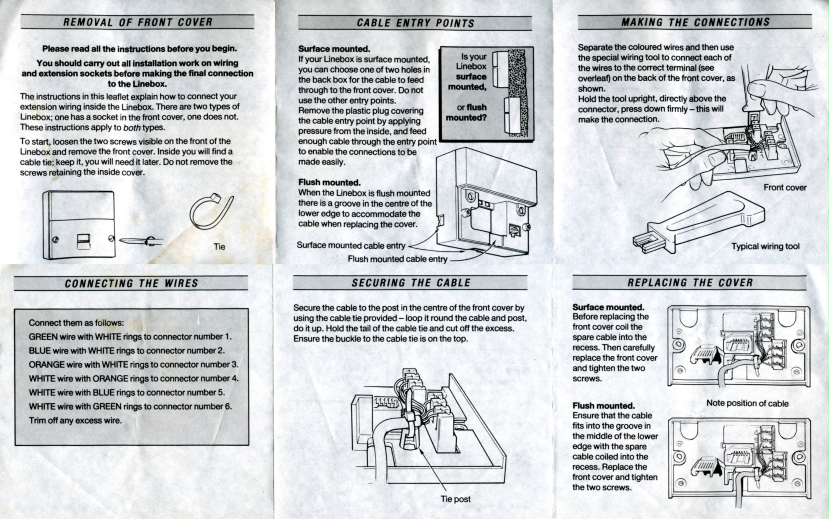 Wiring Information - Telephone Wiring Diagram
