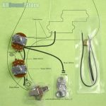 Wiring Kit For Import Fender Precision P Bass Complete & Diagram   Fender P Bass Wiring Diagram