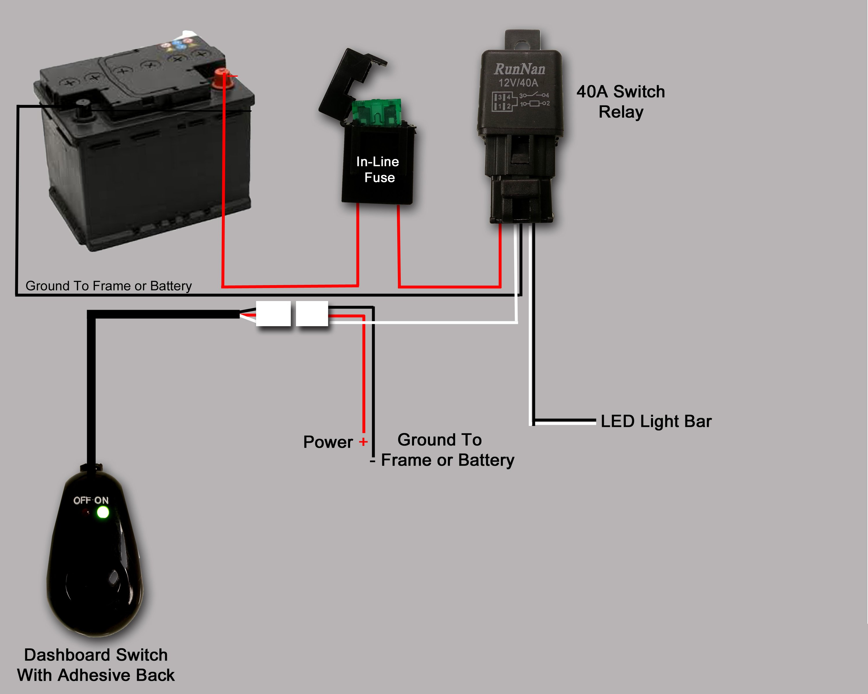 Wiring Led Lightbar - Help A Newbie - Patrol 4X4 - Nissan Patrol Forum - Light Bar Wiring Diagram