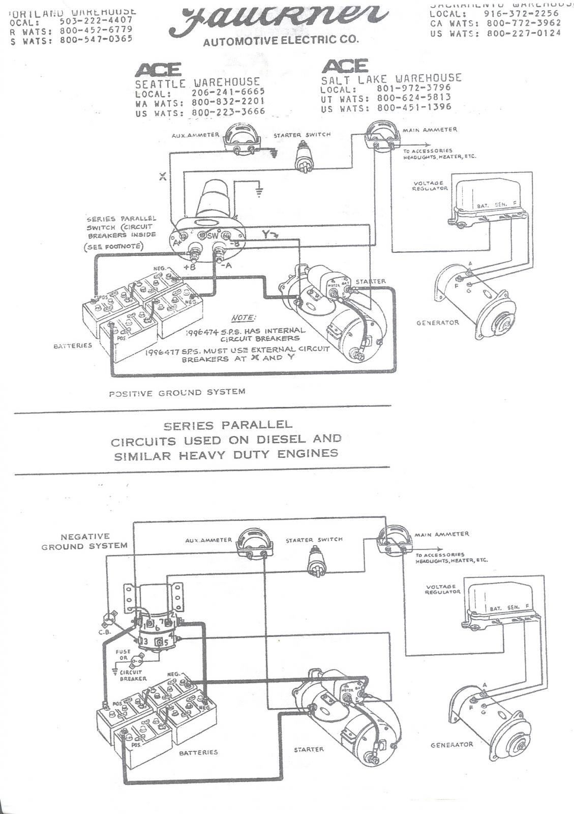Wiring Schematic For Series Parallel Switch - Antique & Classic Mack - Parallel Wiring Diagram
