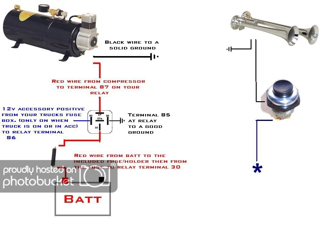 Wiring Up Air Horn - Wiring Diagram Data Oreo - Horn Wiring Diagram