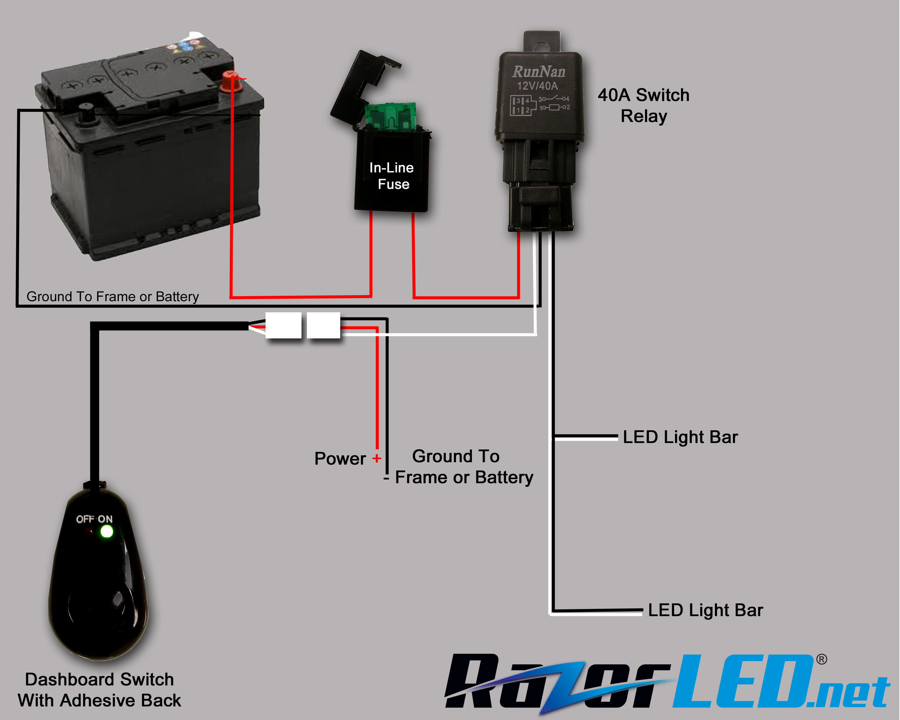 Wiring Up Led Light Bar Diagram | Wiring Diagram - Led Light Bar Wiring Diagram