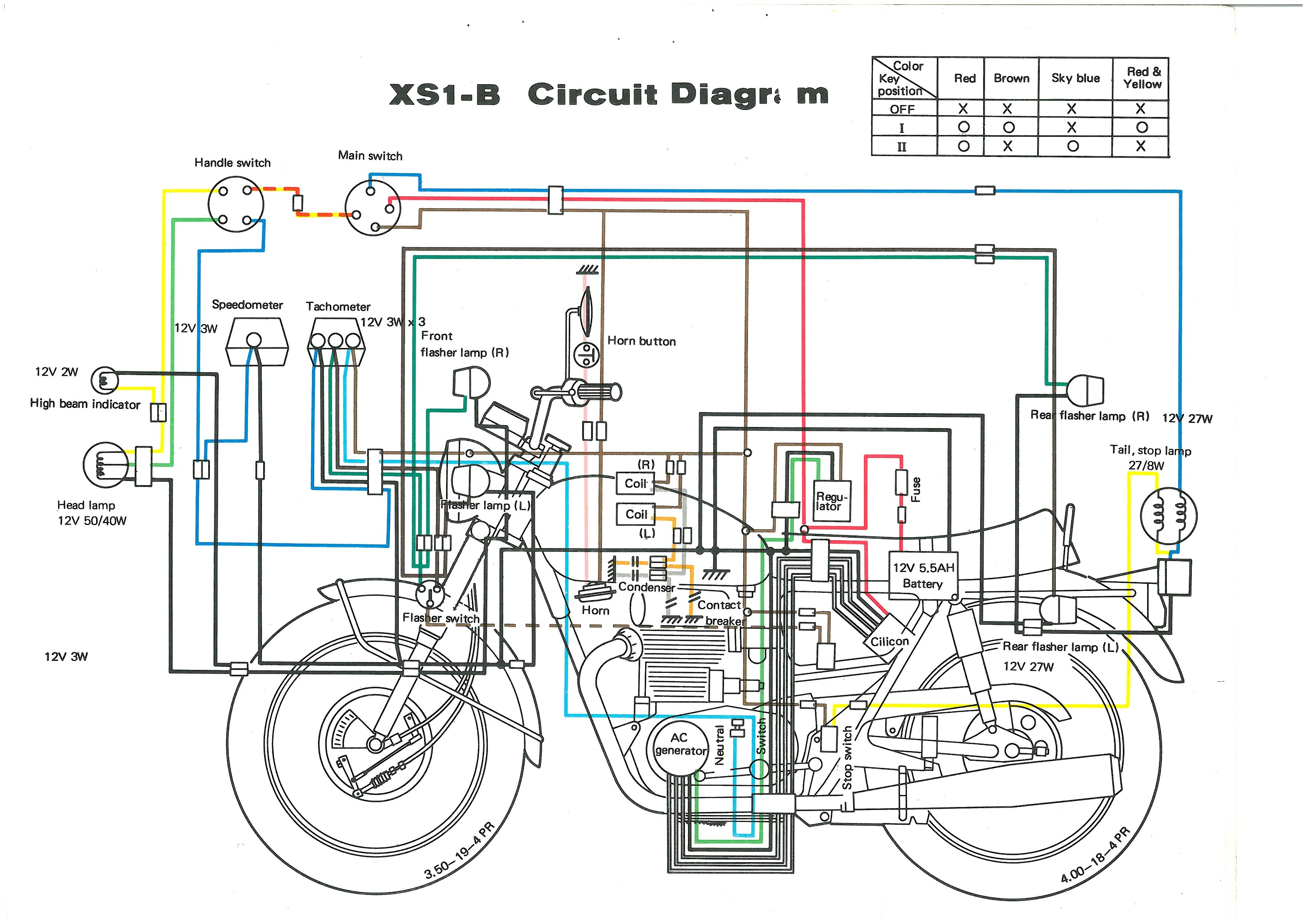 Xs650: 71 Xs1B Wiring Diagram | Thexscafe - Xs650 Wiring Diagram