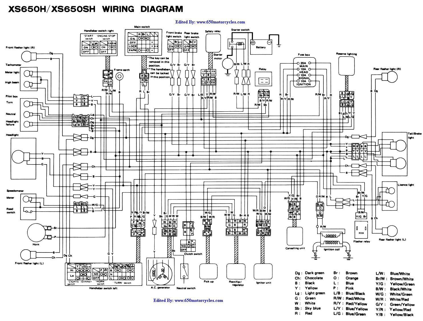 Xs650 Chopper Wiring Diagrams - Xs650 Wiring Diagram