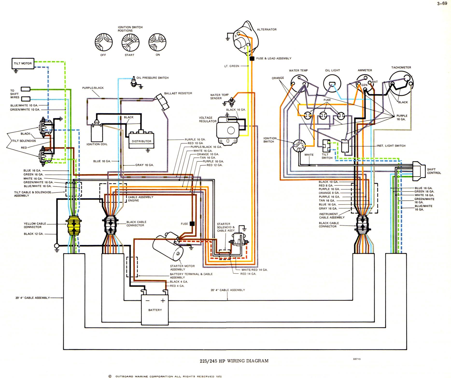 Yamaha Outboard Tach Wiring | Manual E-Books - Yamaha Outboard Tachometer Wiring Diagram