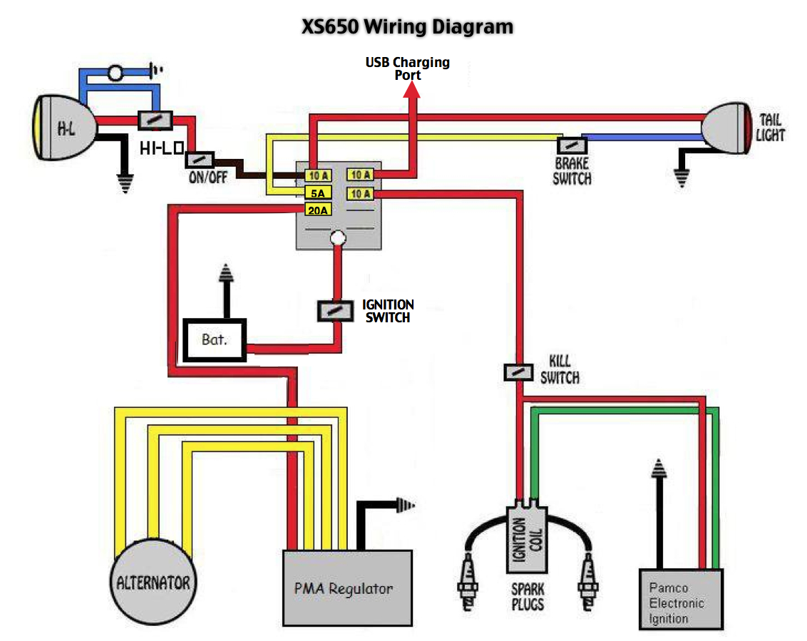 Xs650  79 Xs650sf  2f Wiring Diagrams