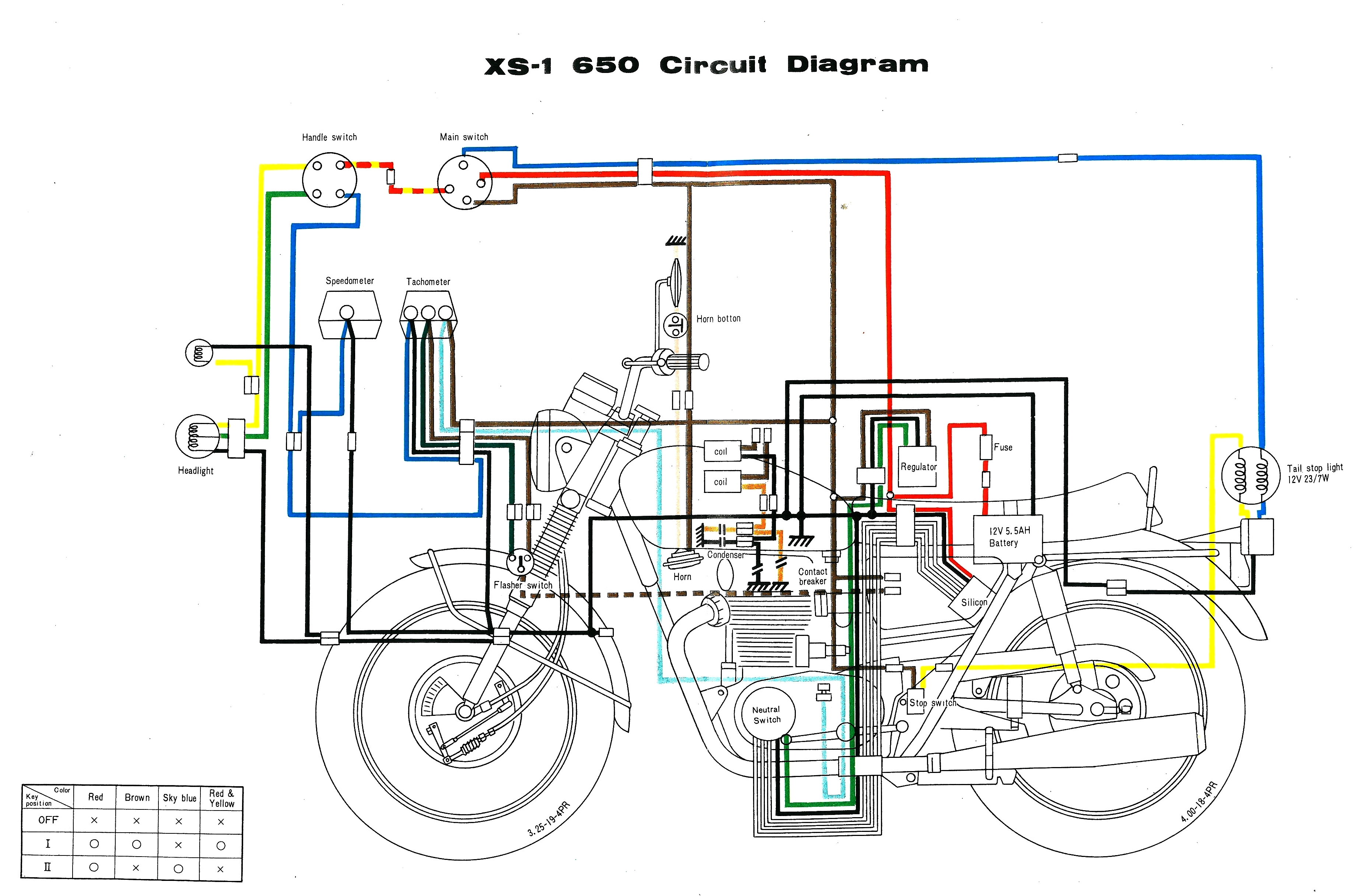 Yamaha Xs650 Wiring Harness Diagram | Manual E-Books - Xs650 Wiring Diagram