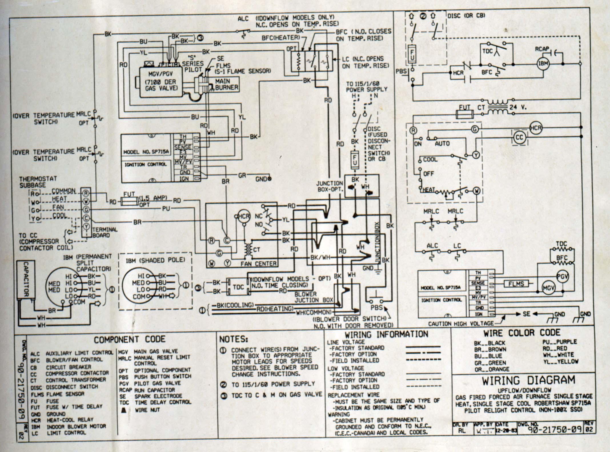 York Gas Furnace Wiring Diagram - Wiring Diagram Data Oreo - Furnace Wiring Diagram
