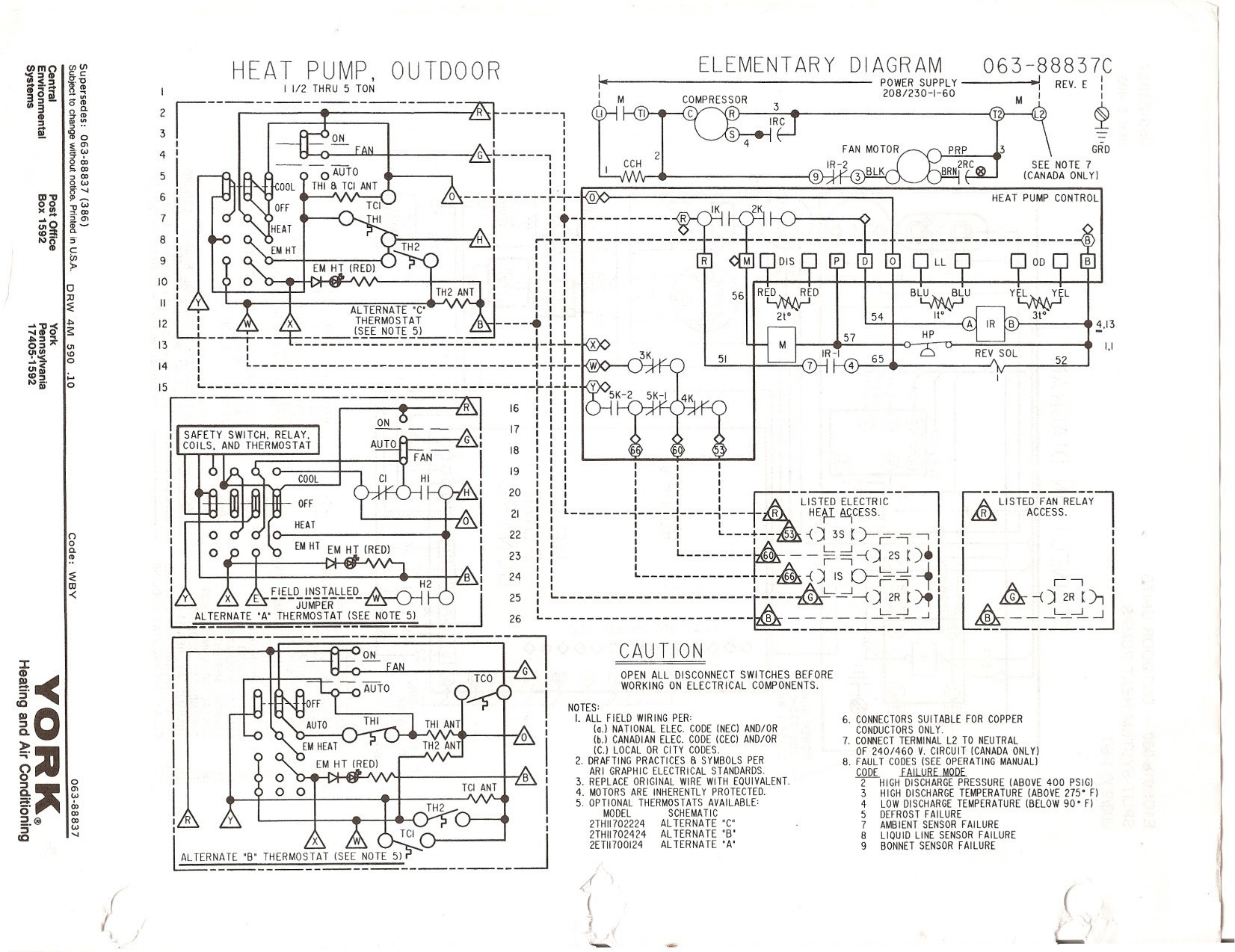 York Heat Pump Wiring Diagrams - Data Wiring Diagram Schematic - Heat Pump Wiring Diagram Schematic