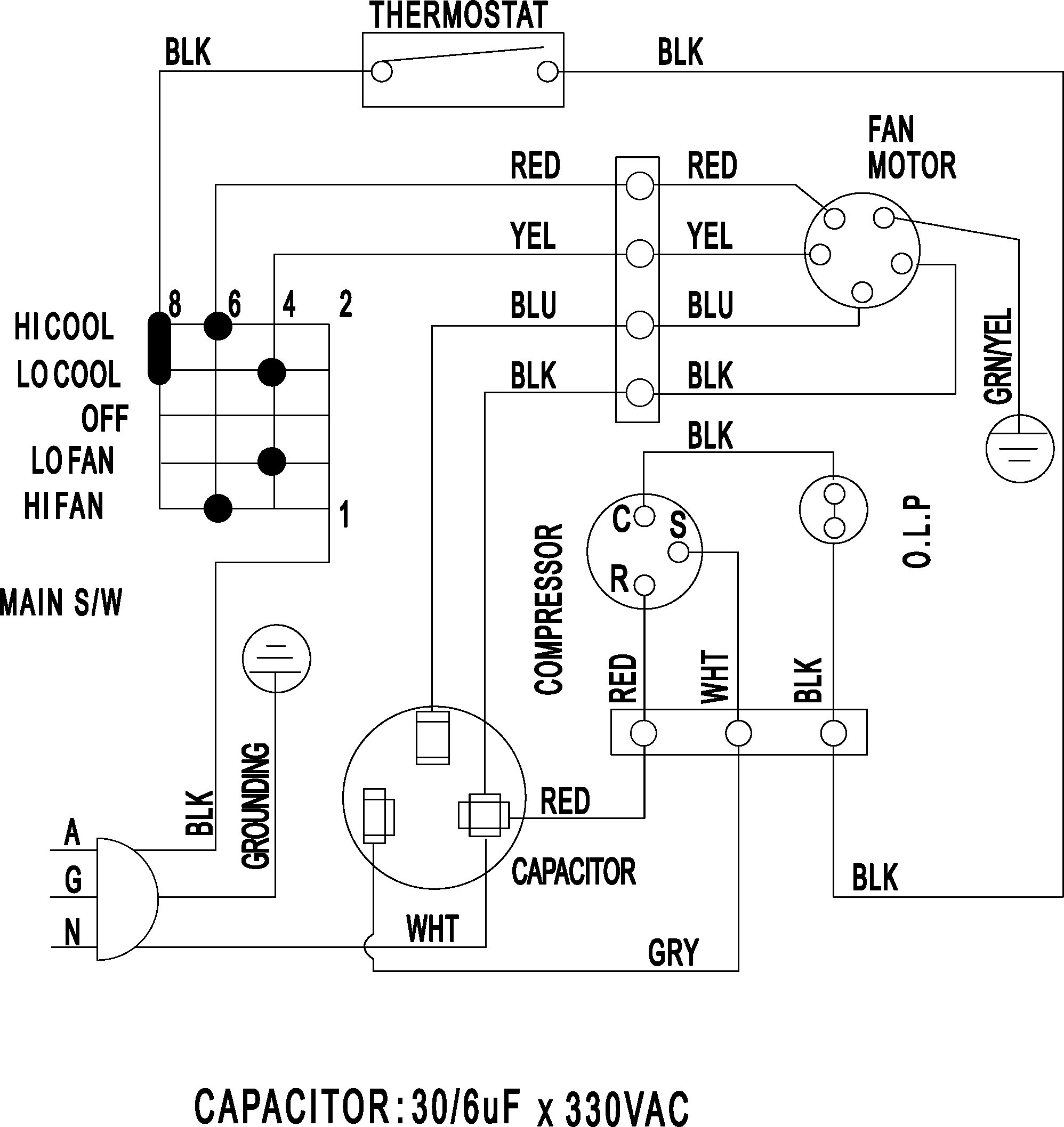 York Motor Wiring Diagram - Wiring Diagram Data Oreo - Carrier Wiring Diagram